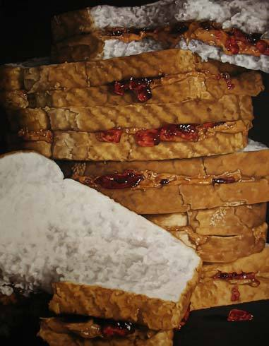 boomshesaid:  PB&J II by Pamela Michelle Johnson. Her paintings are super awesome.