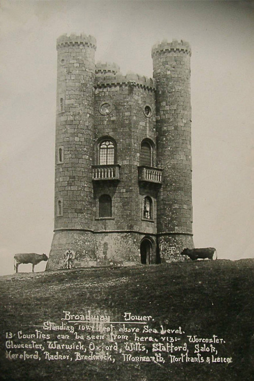 booksnbuildings:  theowlhooteth:  broadway tower in worcestershire on the edge of the cotswolds.. ~broadway tower served as a country retreat for artists including William Morris and Edward Burne-Jones who rented it together in the 1880s. (i just climbed the giant hill to get to this tower in the pouring english rain. the view from the top of the tower made it worthwhile..) via www.oldukphotos.com