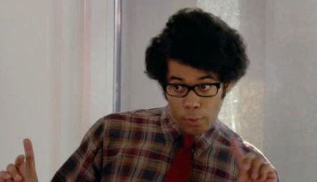 We keep watching episodes of the IT crowd and keep coming to the conclusion that Gunstreetboy IS MOSS. HE IS HIM. The only differences are that Moss is of a different ethnicity, British, and doesn't have a girlfriend. Seriously — that's about it.