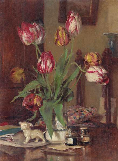 A.M.E. Bale On Guard (Tulips) 1931