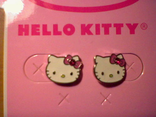 Hello Kitty Earrings from Claires /  ohshetitsjen