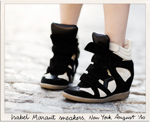 Fashion 101: Isabel Marant sneakers Hidden 6cm heels. Isabel Marant has the best ideas.