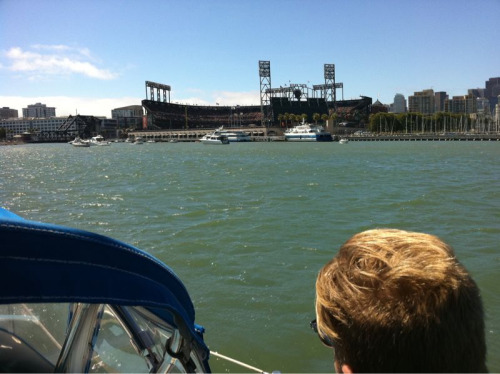 Giant's game at McCovey Cove