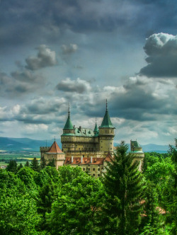 "Bojnice Castle, Slovakia - rated as one of the 25 most beautiful castles in Europe It is one of the most visited medieval Romantic castles in Slovakia with original Gothic and Renaissance elements built in the 12 th century and also being a popular filming stage for fantasy and fairy-tale movies. Location on MAP : GPS: N48°46'48.15""   E18°34'40.31"" Architecture : Gothic, Renaissance Bojnice Castle was first mentioned in written records in 1113, in a document held at the Zobor Abbey, Nitra, Slovakia. Originally built as a wooden fort, gradually Poznan family. Its next owners included Matúš Čák of Trenčín ""Lord of the river Váh and the Tatra Mountains"", who received it in 1302 from the King Ladislaus V;  15th century - owned by King Matthias Corvinus, who gave it to his illegitimate son John Corvinus in 1489. Later owned by famous noble families (Zapolya, Thurzos). From 1646 on, the castle's owners were the Palffys, who created today's beautiful imitation of French castles of the Loire valley. Today there is a museum (part of Slovak National Museum) and the castle is surrounded by the castle park, which contains the Bojnice Zoo (the oldest and one of the most visited zoos). The castle park continues in the form of a forest park in the Strážov Mountains. The castle is renowned for its attractions, including the popular Castle Fairytale, the International Festival of Ghosts and Spirits, Summer Music Festival, Day and Night Tours and Special Christmas, Easter and Valentine`s Programmes. The romantic castle is also a popular location for filming fairy tale movies, such as Fantaghirò. It hosts the single most popular museum in Slovakia.  photo via flickr"