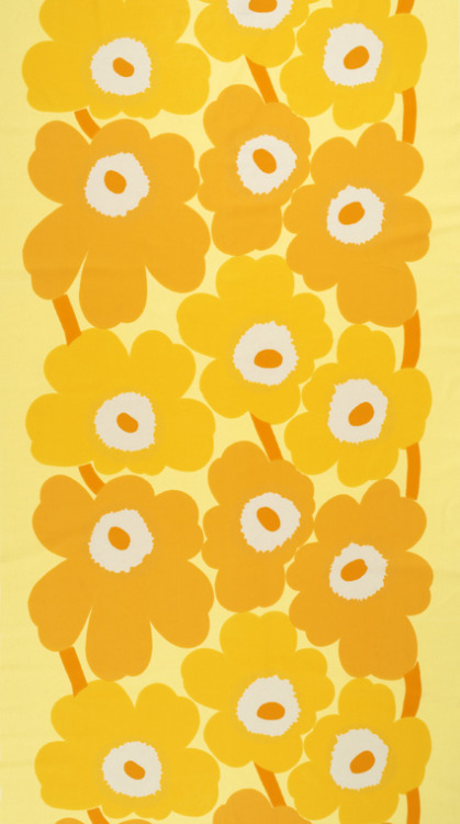 Unikko (yellow) by Maija Isola (1964+) - downloaded Wednesday, August 10th, 2005 - from first, old ThinkPad -