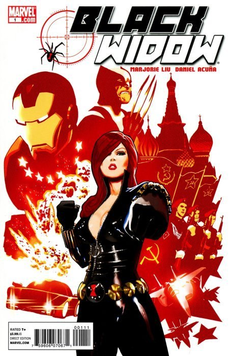 1065. Black Widow v4 #1, June 2010, written by Marjorie Liu, penciled by Daniel Acuna My Score: 8.4