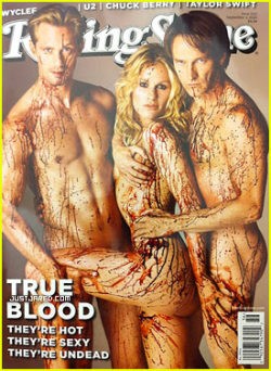 popculturebrain:  True Blood's Alexander Skarsgard, Anna Paquin Stephen Moyer Cover Rolling Stone | Just Jared But what will cover them?   Holy god! o__o