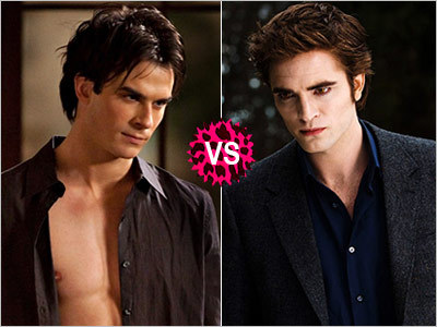 Who is the ultimate Sexy Beast? Vote to crown the champion: Damon Salvatore from 'The Vampire Diaries' or Edward Cullen from 'Twilight'! CLICK ON THE PICTURE TO VOTE! (Hint: Vote for Edward! He's currently leading, let's keep it that way!)