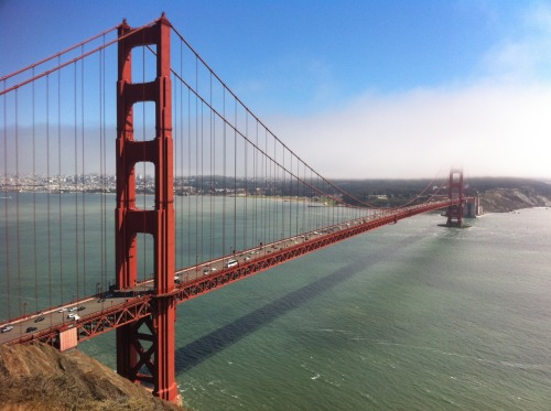 The Golden Gate Bridge from the Marin Headlands. It's a classic shot that I'm happy to take time and time again. Photographed with a iPhone 4.