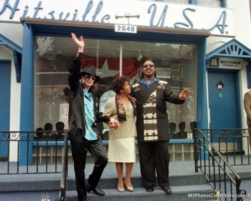 Michael at the Motown Museum with Stevie Wonder in 2008.