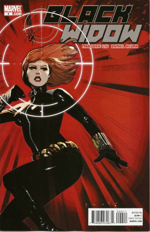 1068. Black Widow v4 #4, September 2010, written by Marjorie Liu, penciled by Daniel Acuna My Score: 8.5