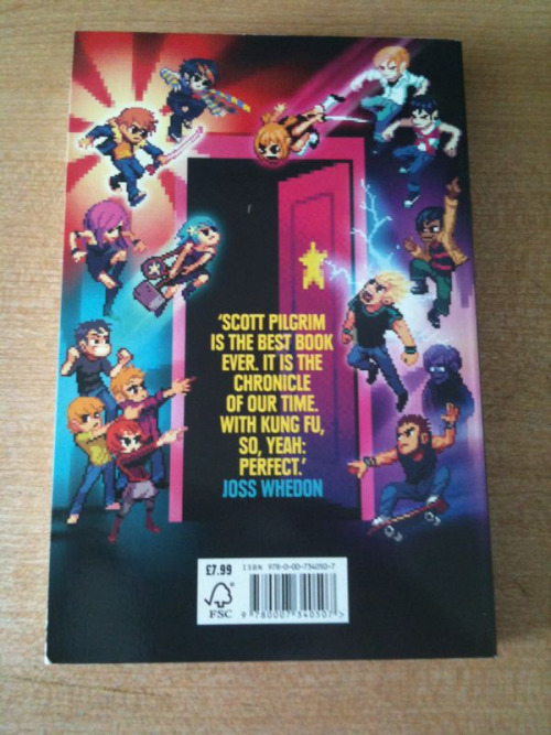 So all the Scott Pilgrim books just arrived (sweeeet) and here is the Joss Whedon quote that finally pushed me to make the purchase.