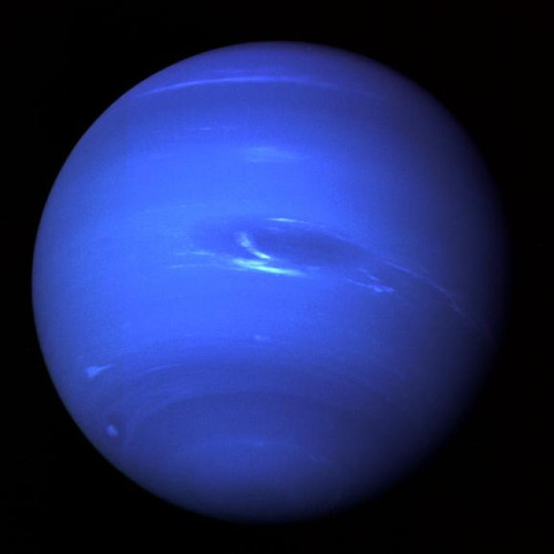 itsfullofstars:  moderation:  Neptune Finally Makes First Orbit Around the Sun Since Discovery In 1846  — The planet Neptune will be in opposition — when the sun, Earth, and a planet fall in a straight line on Aug. 20. The planet will be exactly opposite the sun in the sky, being highest in the sky at local midnight. Usually this is also the point where the planet is closest to the Earth. This opposition is special because Neptune will be returning close to the spot where it was discovered in 1846, marking its first complete trip around the sun since its discovery. Coincidentally opposition in 1846 also fell on Aug. 20, although the planet wasn't actually spotted until over a month later, on Sept. 23. (via space.com)