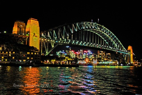 Sydney, Harbour Bridge, At Night!!. Check it out.