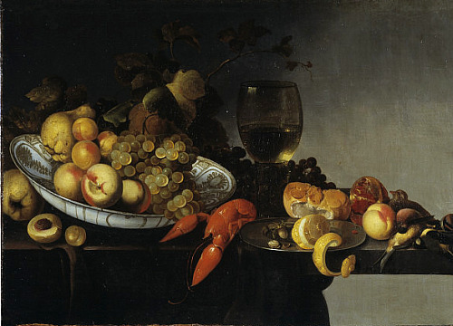 Michiel Simons Still Life with Fruit, a Lobster and Game Late 17th century
