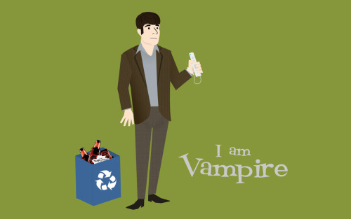 "True Blood Mad Men-ified // Bill ""I am Vampire"" Compton"