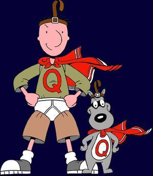 with his mighty sidekick, QUAIL-DOG!