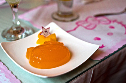 Orange Hello Kitty Jello