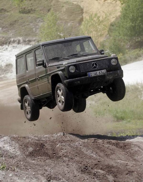Only way to drive a G-Wagon.