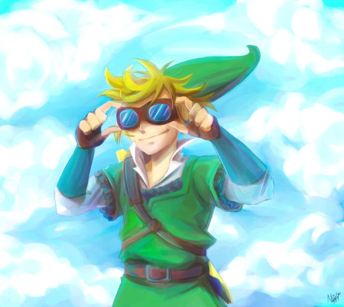 fuckyeahlink:  Skyward Sword Sky Diving