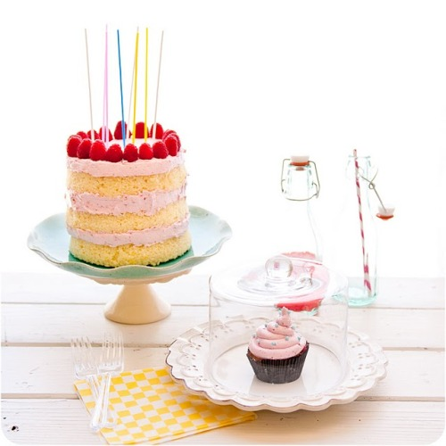 kari-shma:  Desserts for Breakfast: A Raspberry and Lemon-Lime Birthday: Raspberry Lemon Lime Sparkling Punch and Layer Cake