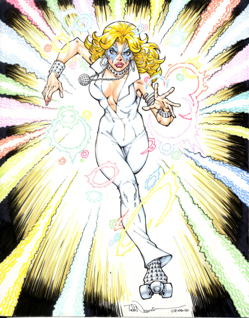 whoismistere:  Todd Nauck just dazzles with this Dazzler drawing Dazzler: Disco Costume by =ToddNauck on deviantART