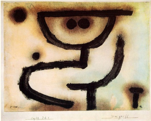 Embrace (1939) by Paul Klee Backtracking - pictures that I missed - out of chronological order of original download - but who cares, other than my memory.  Love this one.  Downloaded under the influence of Edvard Munch's The Kiss/Kyss and Klimt's Kiss… but this is my favorite. -downloaded Sunday April 21st, 2002 - from first, old ThinkPad -