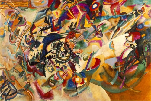 Composition VII (1913) by Wassily Kandinsky If you haven't stood in front of a Kandinsky and had to refrain yourself from licking the canvas you still have time while there is breath in your body!  The Lenbachhaus Kunstbau/Museum in Munich is a good place to start.  Downloaded between 1st and 2nd trip to Germany of 3. - downloaded Sunday, April 21st, 2002 - from first, old ThinkPad -