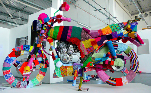 Kate Corbin - Yarn Bombing, University of Portsmouth, UK.