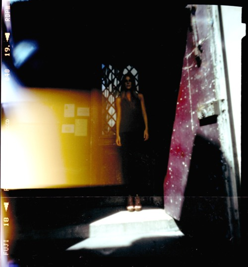 Alison | shot with a Zero Image Pinhole | Cross Processed Fuji Provia