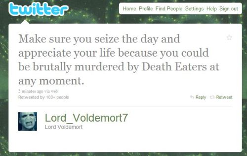 wise words from the dark lord there.