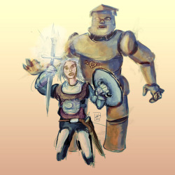 Ash and war golem. You know, from the book Ash by Mary Gentle.