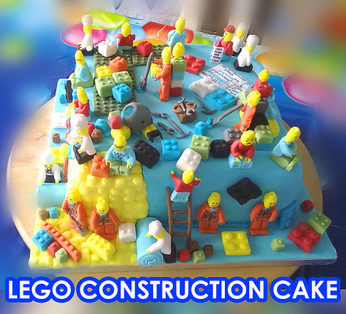 Construction Cake from the Birthday Room at LEGOLAND Discovery Centre (by Lego Land)