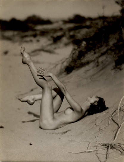 A Seaside Nude Study,1920s by Edwin Bower Hesser