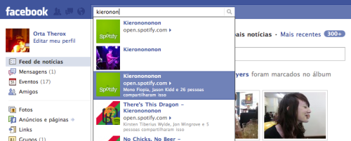 spotify is obviously more important than us on facebook =)