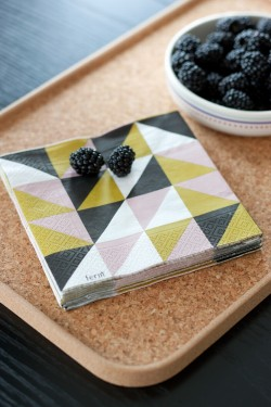 Remix black napkin from Danish Ferm Living.