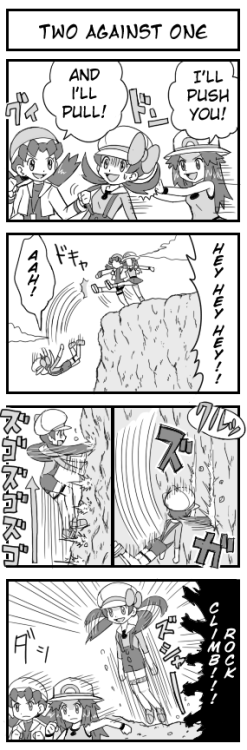 pokemonhgss:  I'm going to typeset these Pokesho 4komas so look foward to them! Original