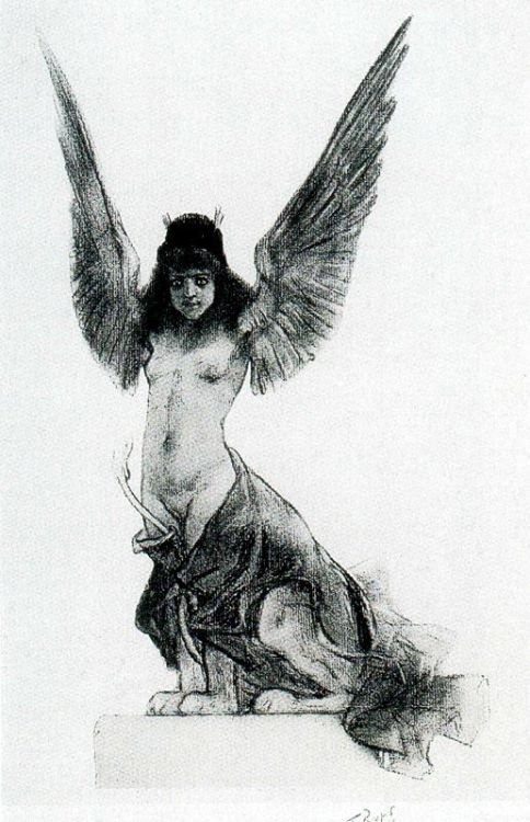 one more Rops Sphinx,1896 via historia-del-arte-erotico