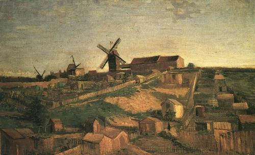 View of Montmartre with Windmills, 1886