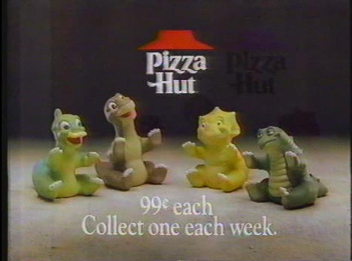 Pizza Hut Land Before Time Puppets (photo via)