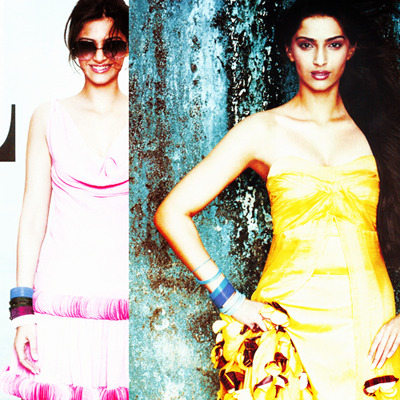 Aah these two might be my all-time favorite pictures of Miss Sonam. The pink one to be perfectly speaks of her personality, while the second is just a beautiful shot (in my opinion).