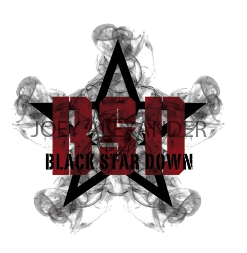 BLACK STAR DOWN A band logo i came up with.