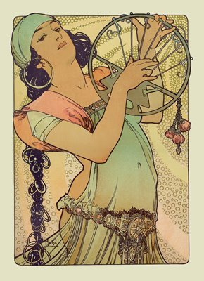 Salome (1897) by Alphonse Mucha  -downloaded Monday, July 14th, 2003 - from first, old Thinkpad -
