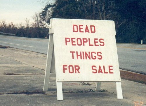 Ooh, I do love things that belong to dead people.