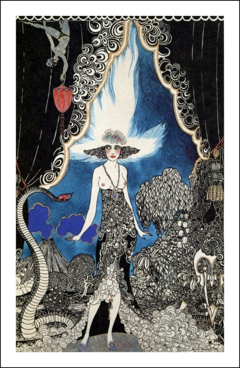 mudwerks:The Pictorial Arts: 1920 Rubaiyat An illustration by Ronald Balfour for a 1920 deluxe signed edition of The Rubaiyat of Omar Khayyam. [one more here;]