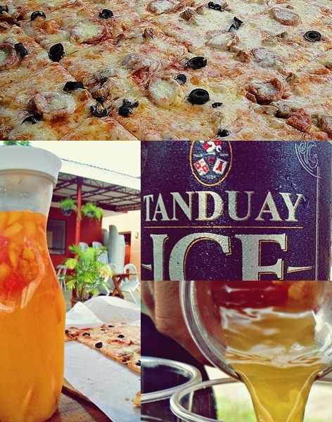Veneto pizza. Summer coolers. Tanduay ICE. Drink, eat and drink.