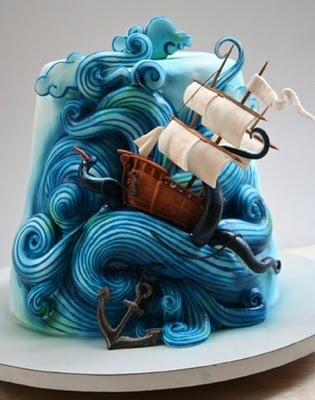 Pirate Ship cake!