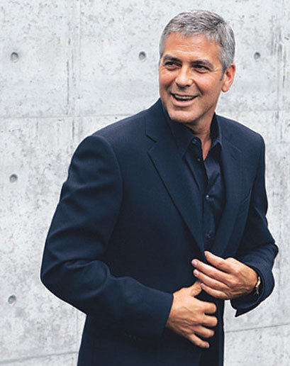 George Clooney Go gray. Just be sure to keep your hair on the trim side and dress like a gentleman—not a frat boy. You're no longer in college.