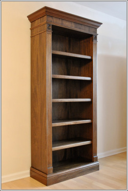 A traditional, hand-made mahogany bookcase. To purchase or customize this bookcase, please visit our website: Hand-Crafted Mahogany Bookcase