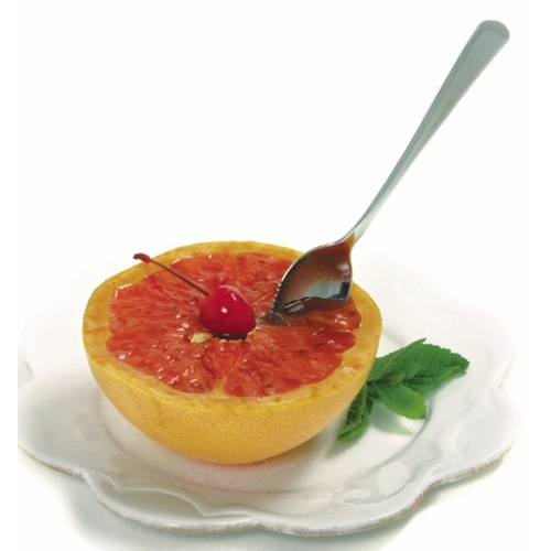 grapefruit with spoon